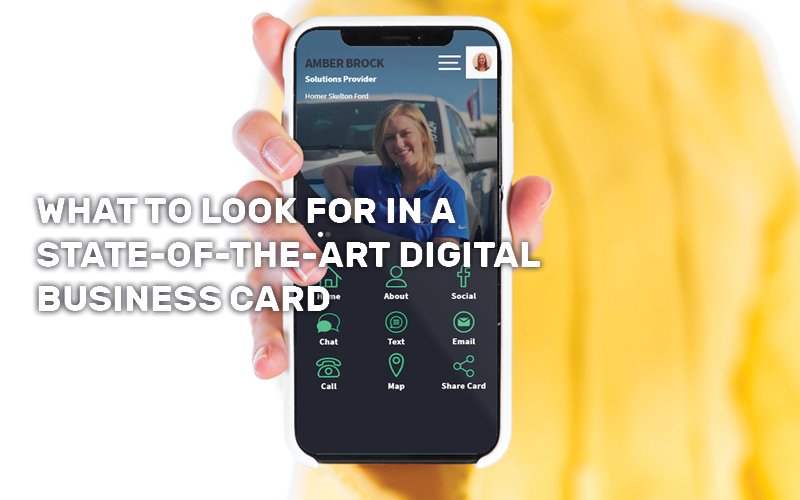 What to Look for in a State-of-the-Art Digital Business Card